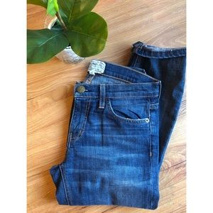 Current/Elliot The Cropped Straight Denim Jeans 24
